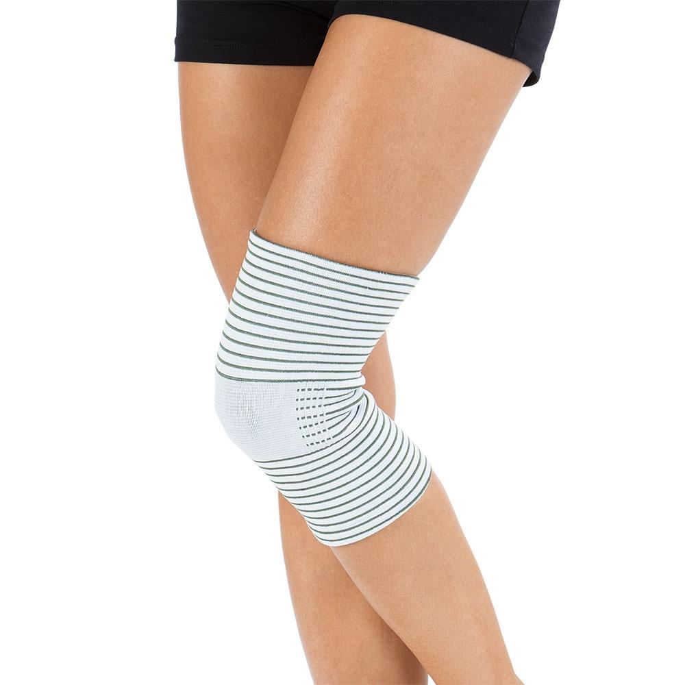 Die VITALmaxx Kniebandage mit Kupferfasern bietet sanfte Linderung bei Knieproblemen.
