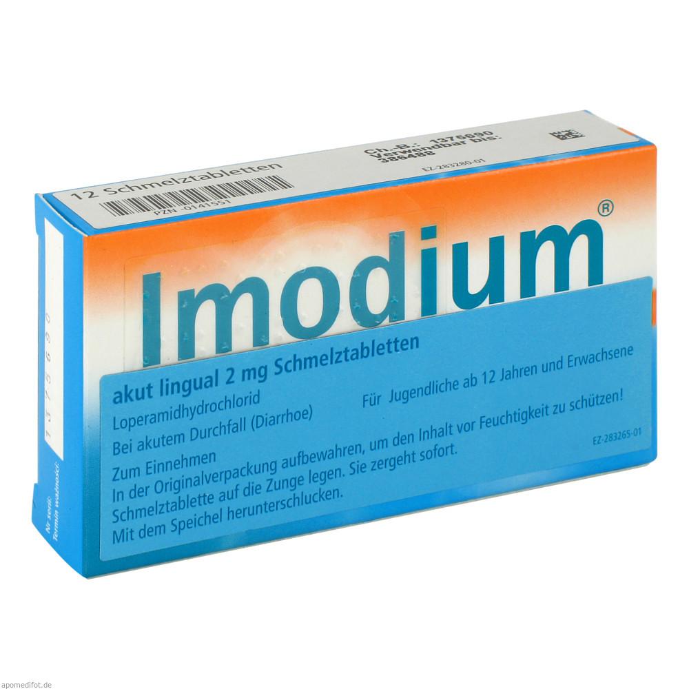 Imodium akut lingual Schmelztabletten 12 St