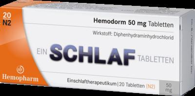 Hemodorm 50 mg Einschlaftabletten 20 St
