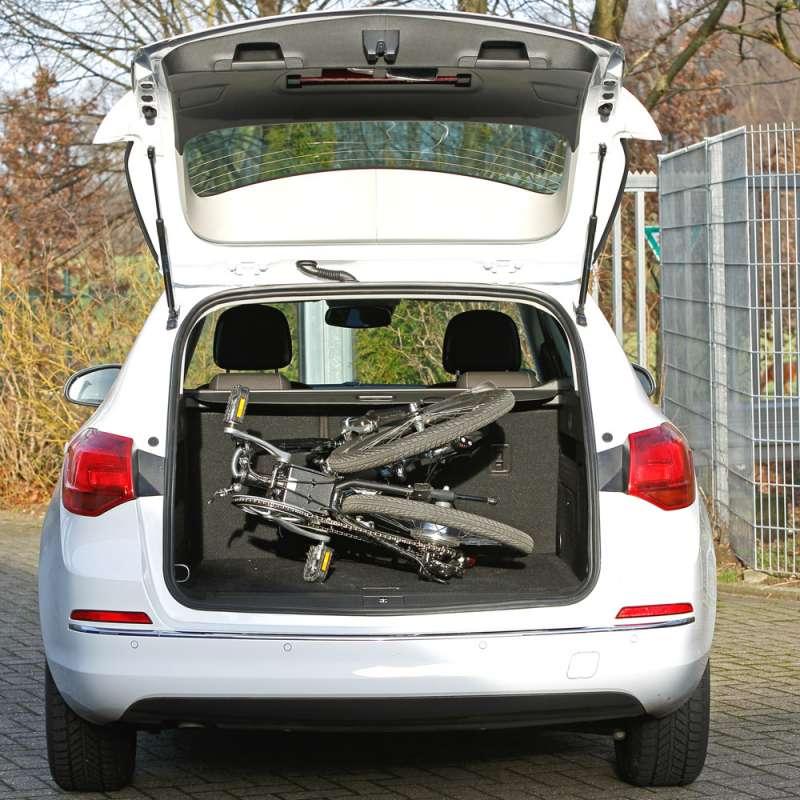 Verstauen Sie Ihr Faltrad ganz einfach in jedem PKW.