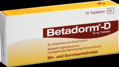 Betadorm D Tabletten 10 St