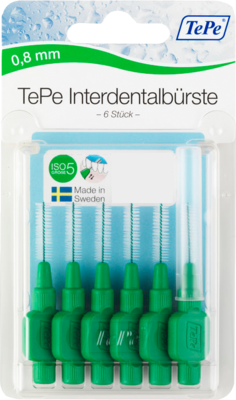 Tepe Interdentalbürste 0,8mm grün 6 St