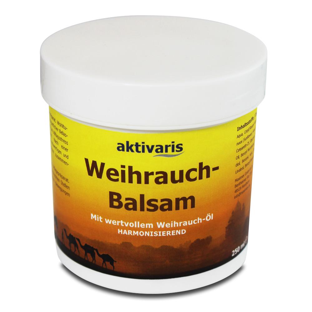 Der wertvolle Weihrauch-Balsam wirkt wohltuend bei körperlicher Belastung, Muskelkater und Rückenschmerzen sowie harmonisierend bei Alltagsstress.