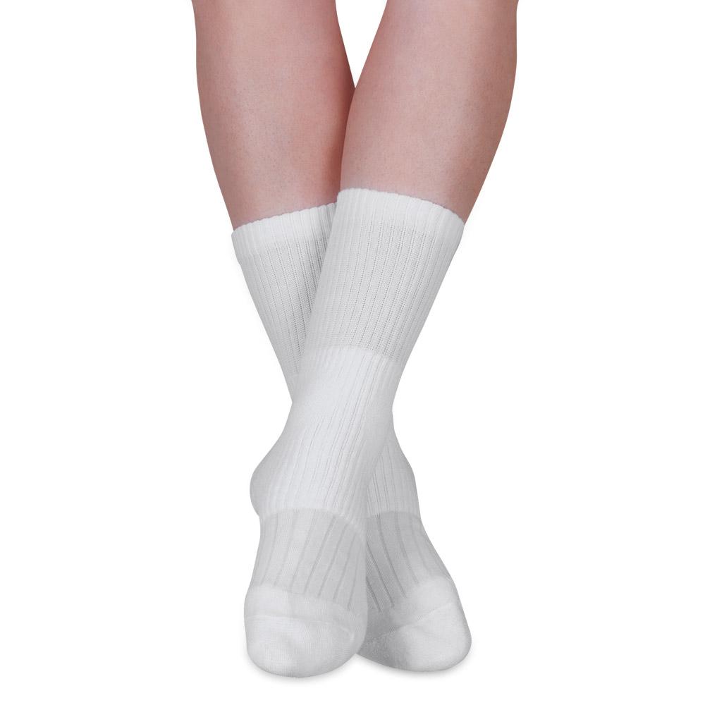 Stabilisiert den Fußgelenkbereich und polstert die empfindlichen Knöchel