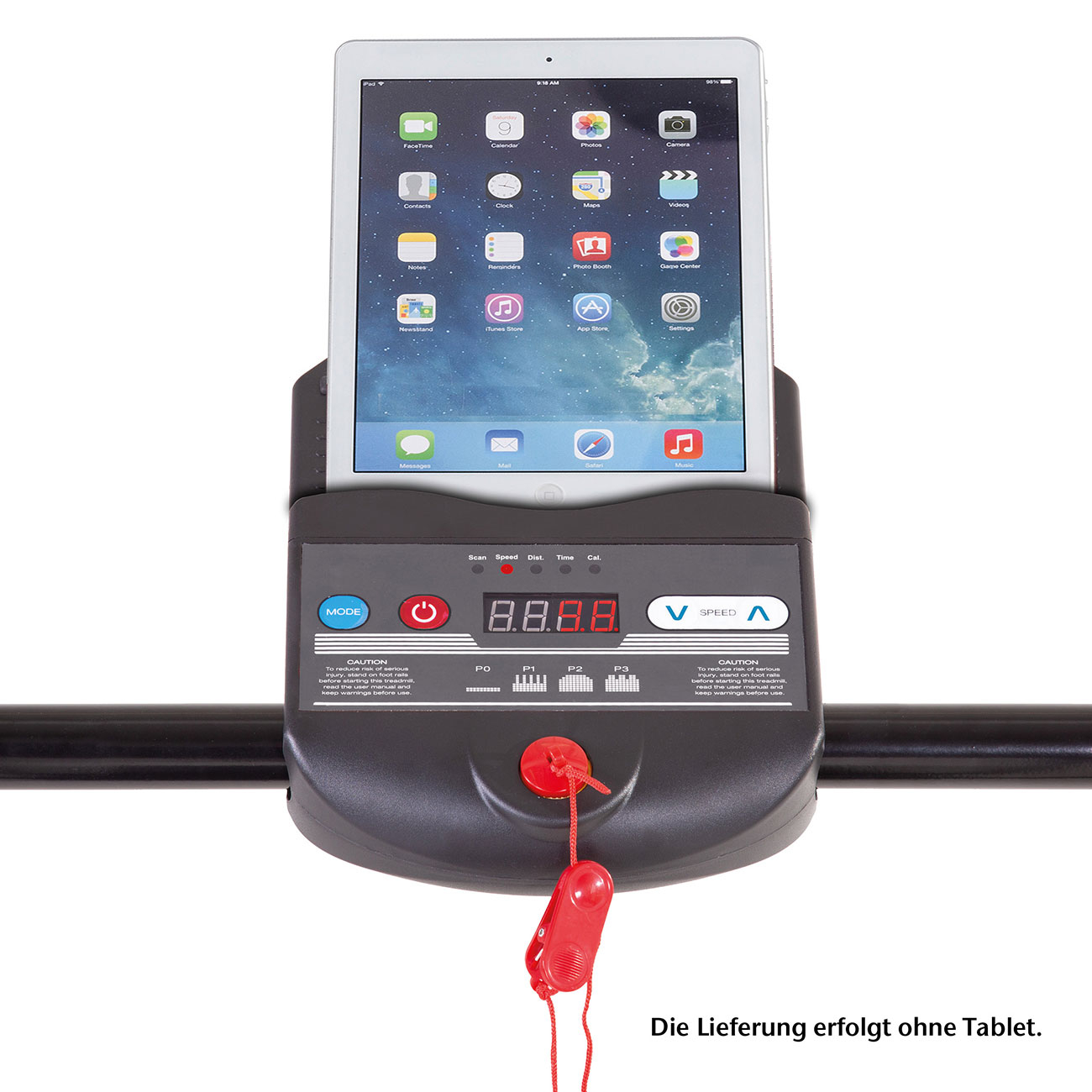Das Display bietet Ihnen auch eine praktische Ablagefläche für Bücher, Zeitschriften oder ein Tablet.