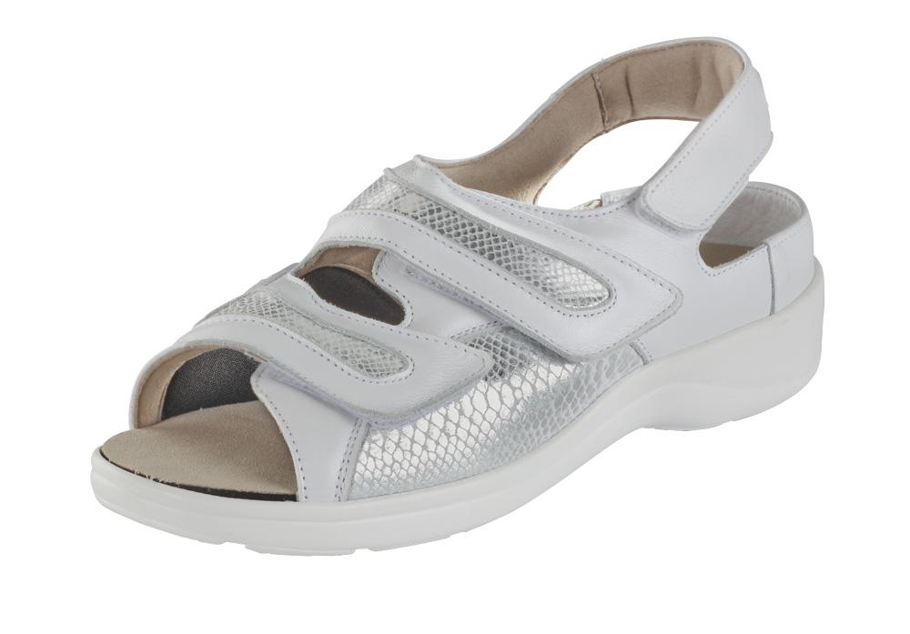 Die formschöne Damen-Sandalette »Berlin« in klassischem Weiß.
