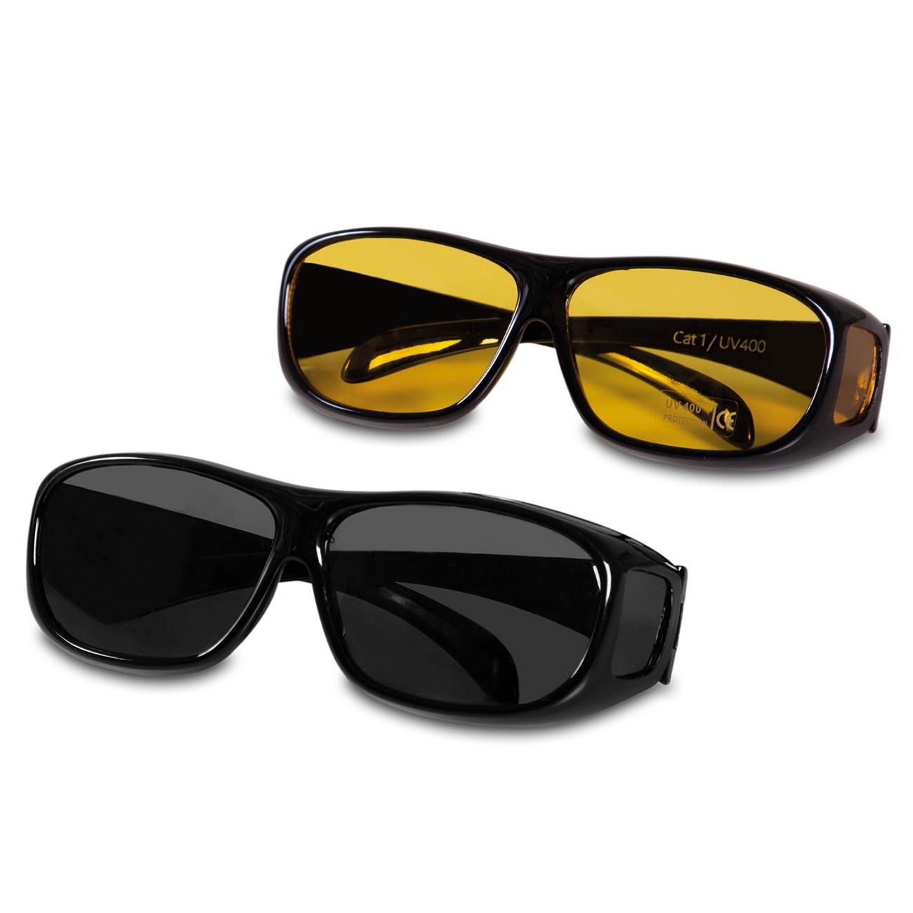 Set bestehend aus einer Sonnen- und einer Nachtsichtbrille