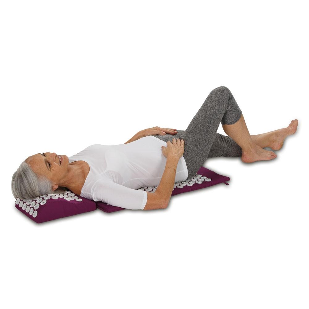 Stimulation der Akupunkturpunkte und Entspannung der Wirbelsäule!