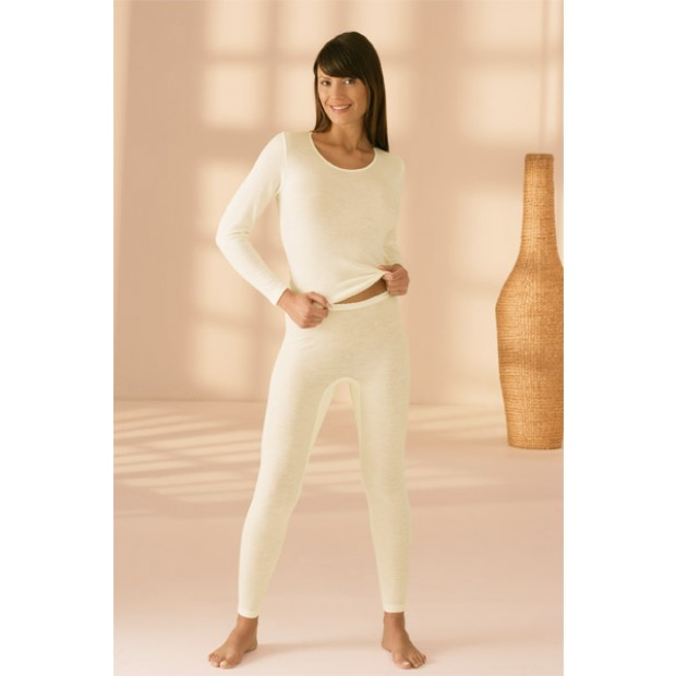 Lange Damenunterhose mit Angora