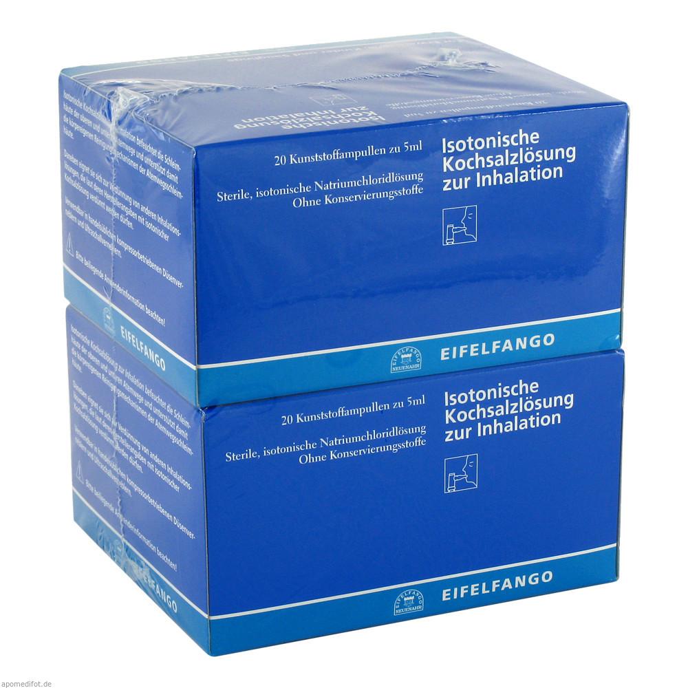 Isotonische Kochsalzlösung zur Inhalation 40X5 ml