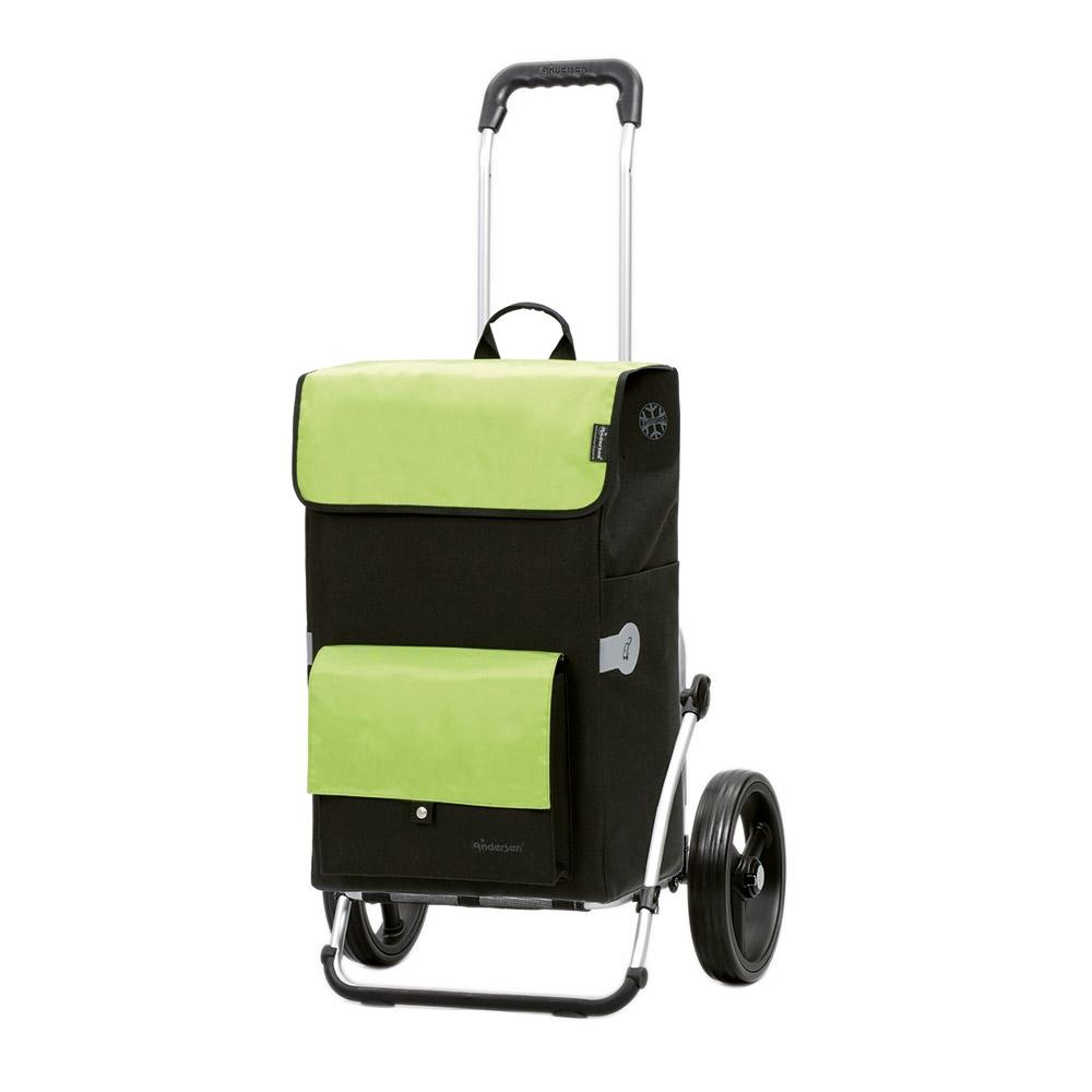 Der Royal Shopper »Asta« in frischem Grün mit Fronttasche mit Druckknopf und Hauptfach.