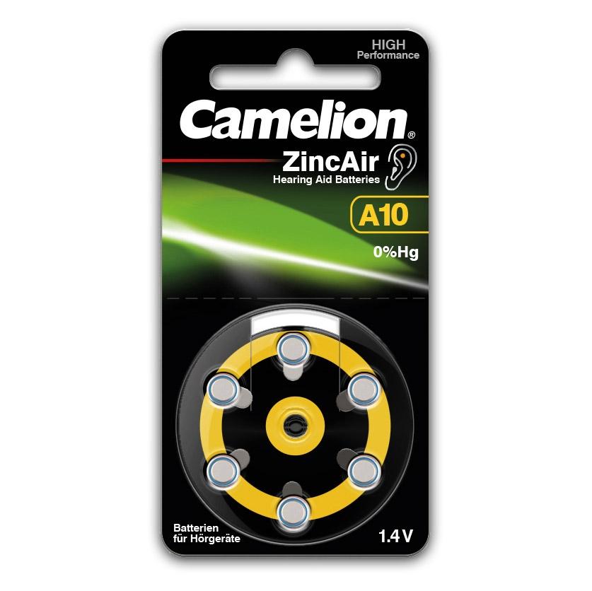 Die Camelion ZincAir Knopfzellen sind spezielle Hörgeräte-Batterien, die sich durch lange Haltbarkeit und stabile Spannung auszeichnen.
