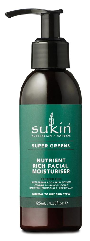 Sukin Super Greens Nutrient rich Facial Moisturis. 125 ml