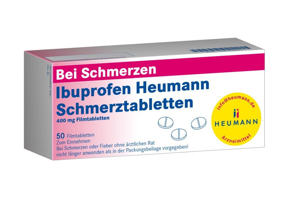 Ibuprofen Heumann Schmerztabletten 400 mg 50 St