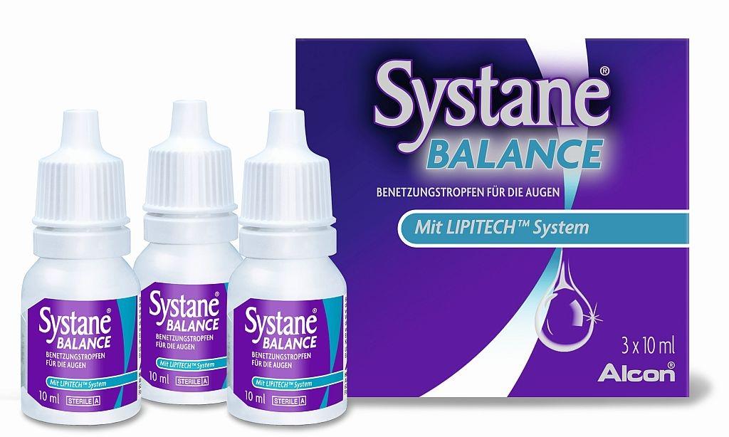 Systane Balance Benetzungstropfen für die Augen 3X10 ml