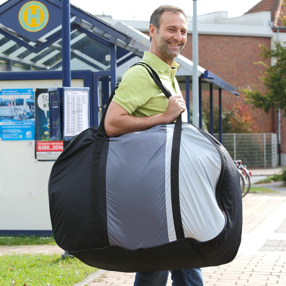 Die Transporttasche erleichtert das Tragen enorm.