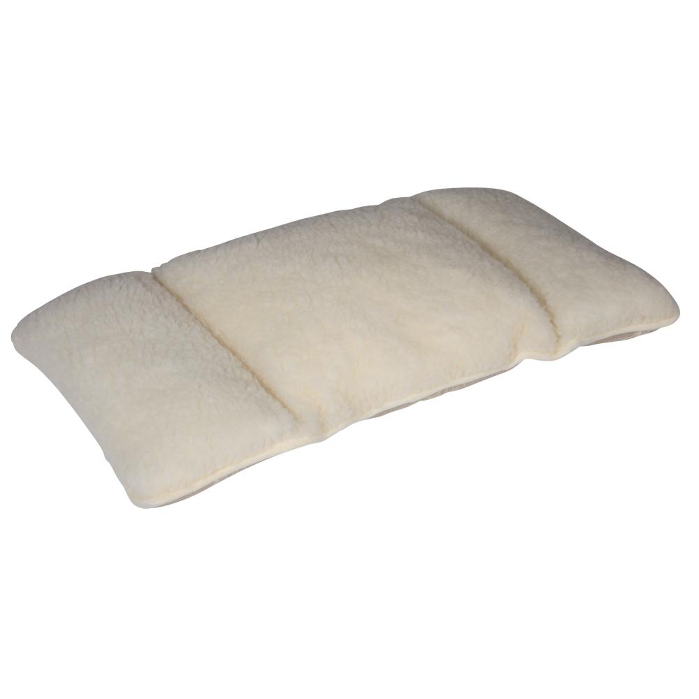 Die griffig weiche Schurwollseite wärmt und schützt Ihre Nierenpartie