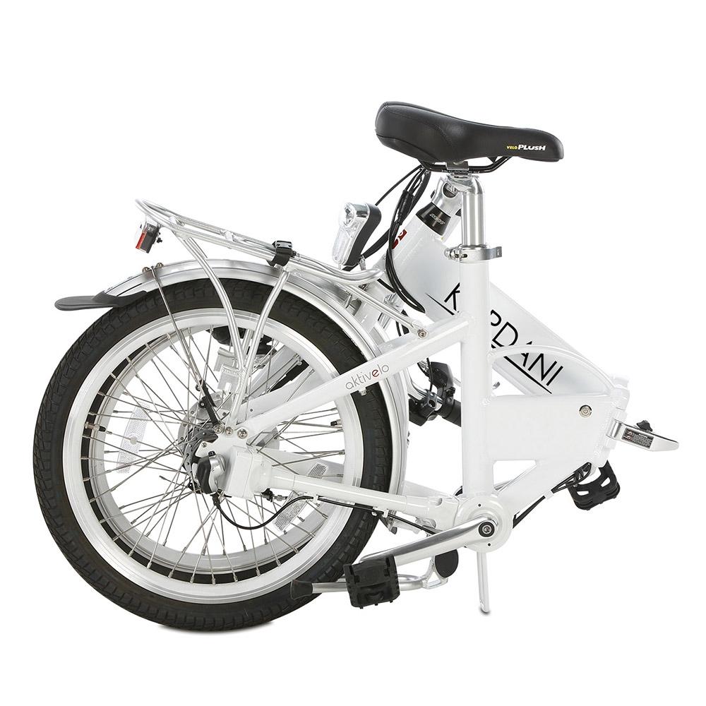Innerhalb weniger Sekunden ist das Fahrrad zusammengeklappt und transportbereit.