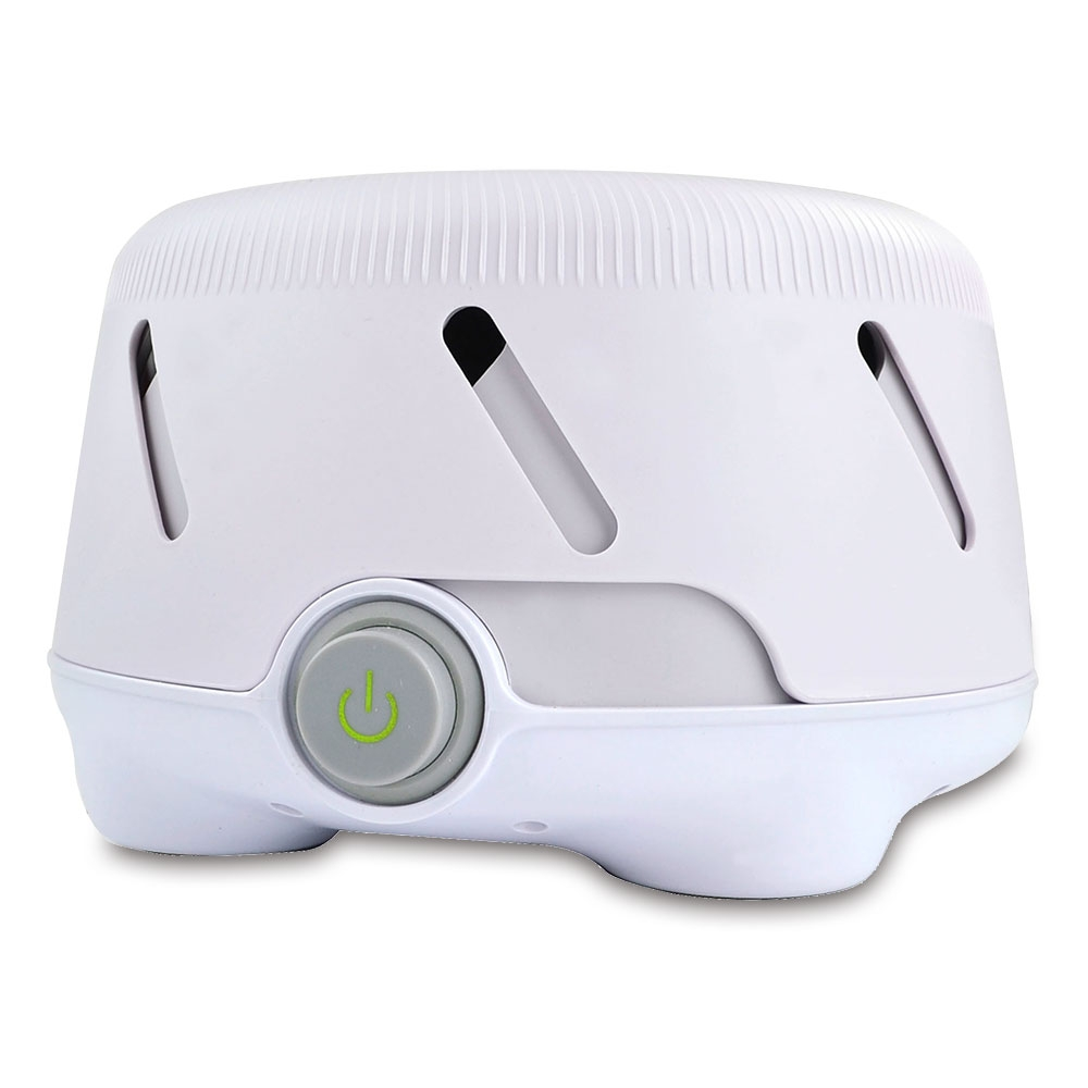 Die Schlafhilfe verfügt über 2 Geschwindigkeiten, mit denen Sie Tonhöhe und Lautstärke des weißen Rauschens individuell einstellen können.