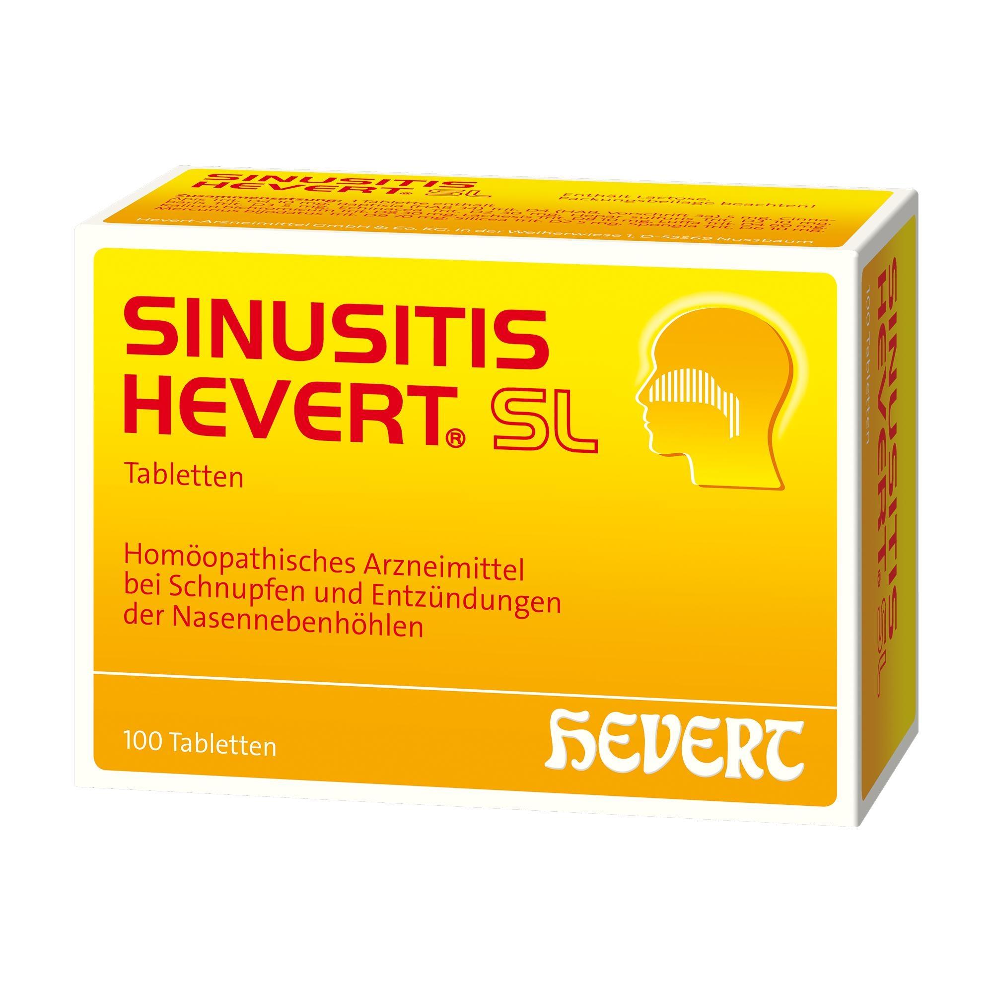 Sinusitis Hevert SL Tabletten 100 St