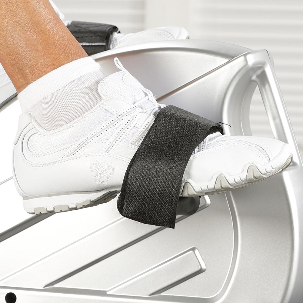 Stufenlos verstellbare Fußschlaufen garantieren Ihnen einen sicheren Halt beim Beintraining.