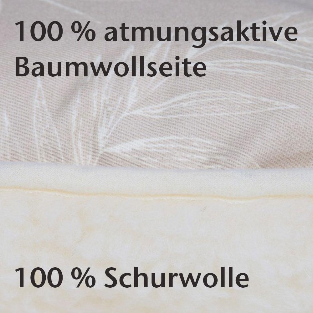 Schurwollkissen mit Wendefunktion