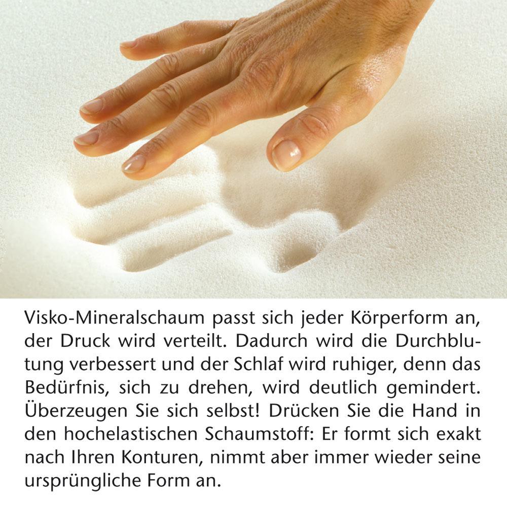 Bestschlaf 3D Visko-Mineralschaum Bezug für die 4 cm Auflage