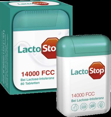 Lactostop 14.000 FCC Tabletten Spender 80 St
