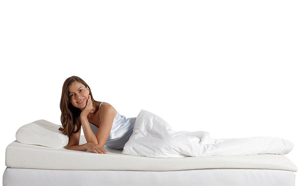 Für einen erholsamen, tiefen Schlaf in angenehmer gerader Schräglage