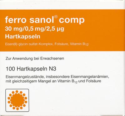 Ferro Sanol comp. Hartkaps.m.msr.überz.Pellets 100 St