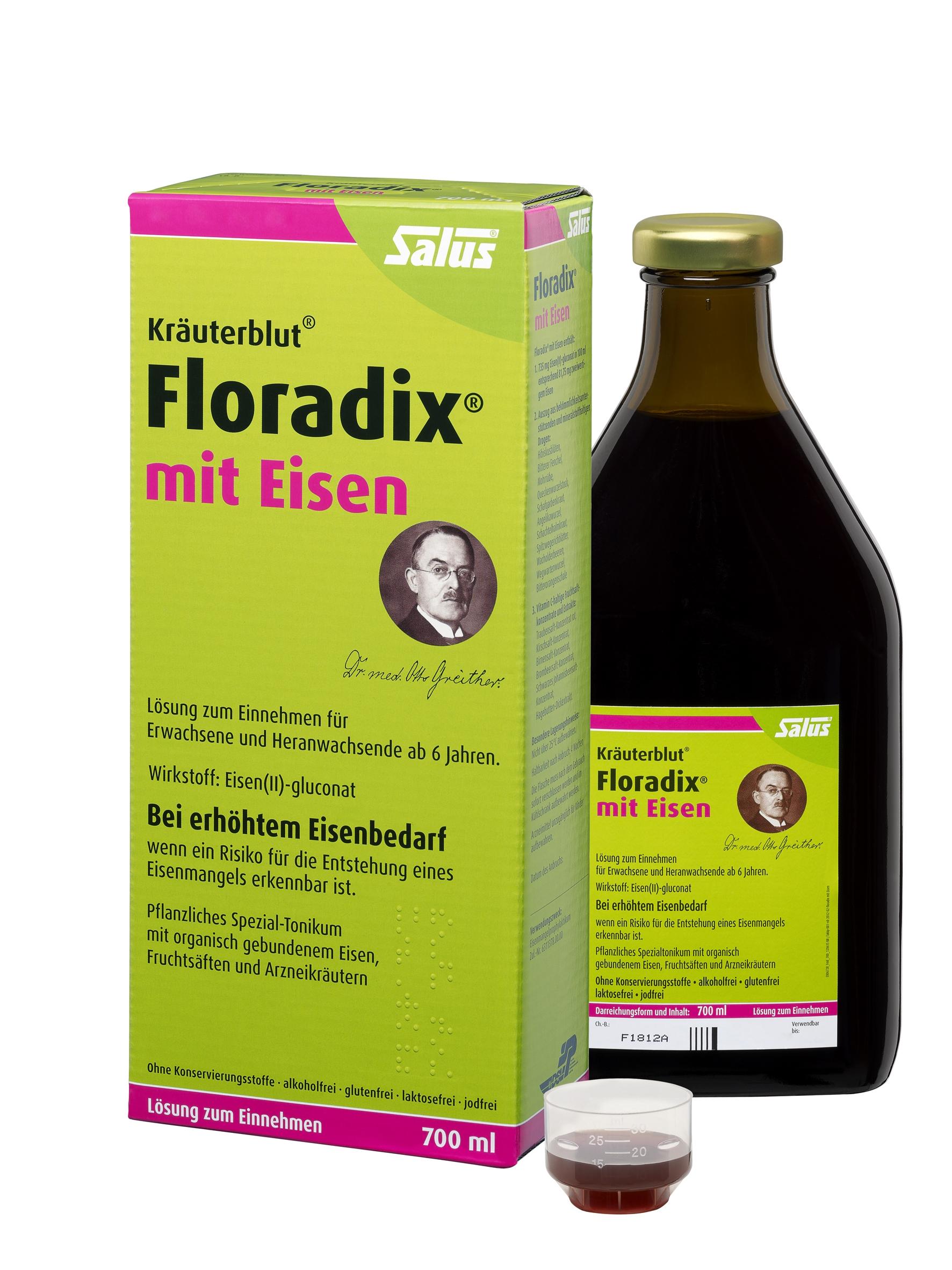 Floradix mit Eisen Lösung zum Einnehmen 700 ml