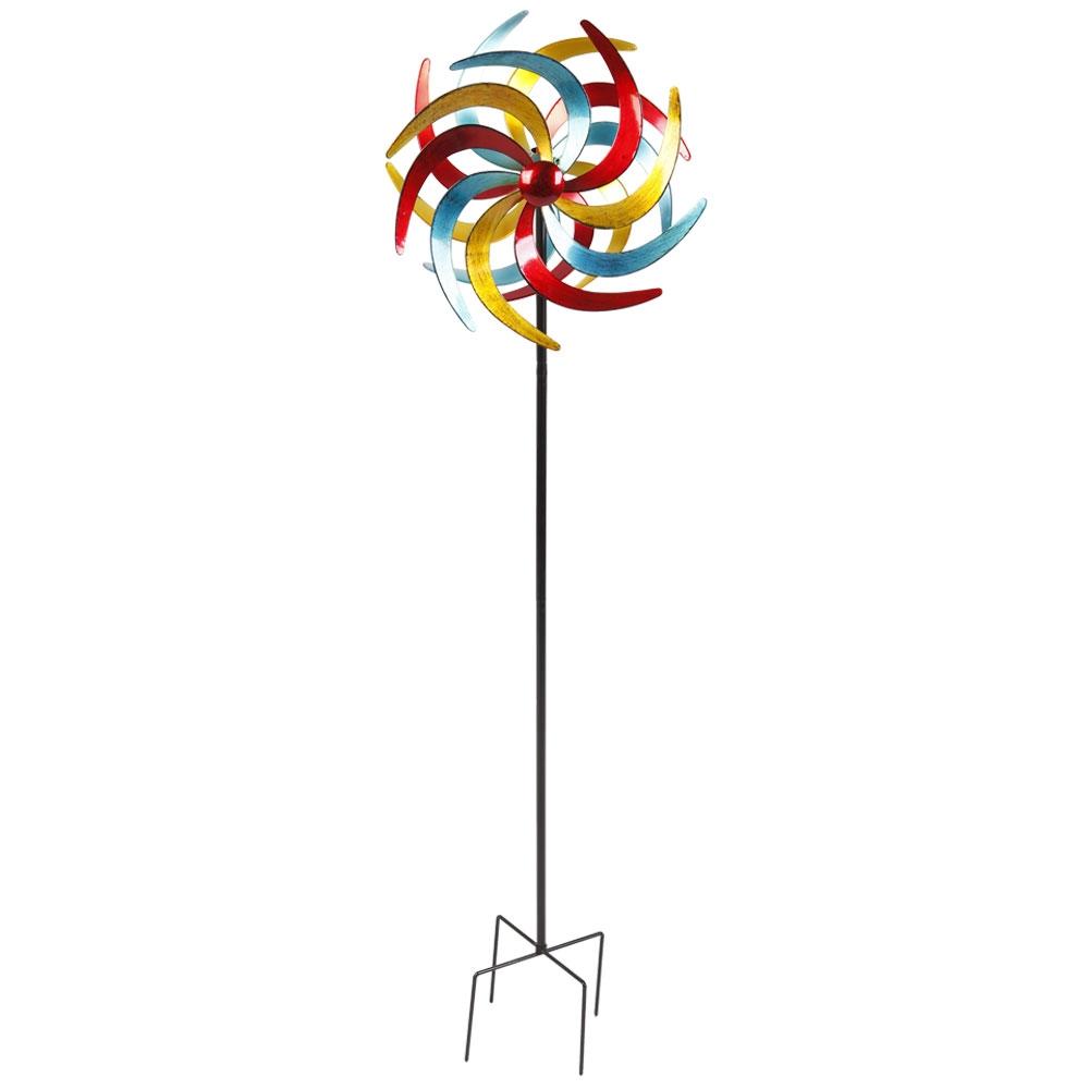 Das Windrad »Metall XXL« besteht aus 2 beweglichen Sonnen in 3 tollen Farben.