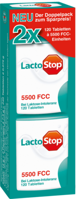 Lactostop 5.500 FCC Tabletten Klickspender Dop.Pa. 2X120 St