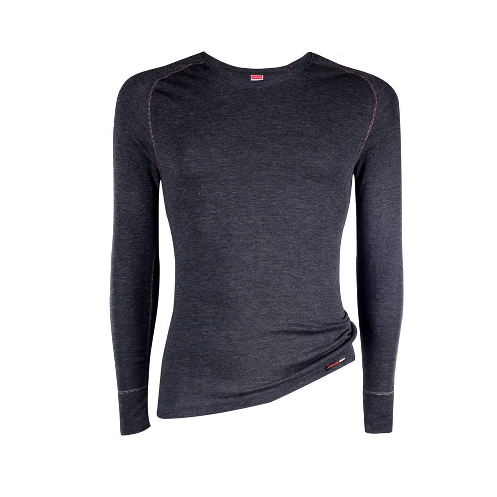 Das Herren-Langarmshirt mit perfekter Passform und wärmendem Klimakomfort.