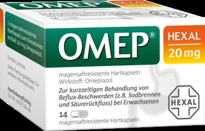 Omep Hexal 20 mg magensaftresistente Hartkapseln 14 St