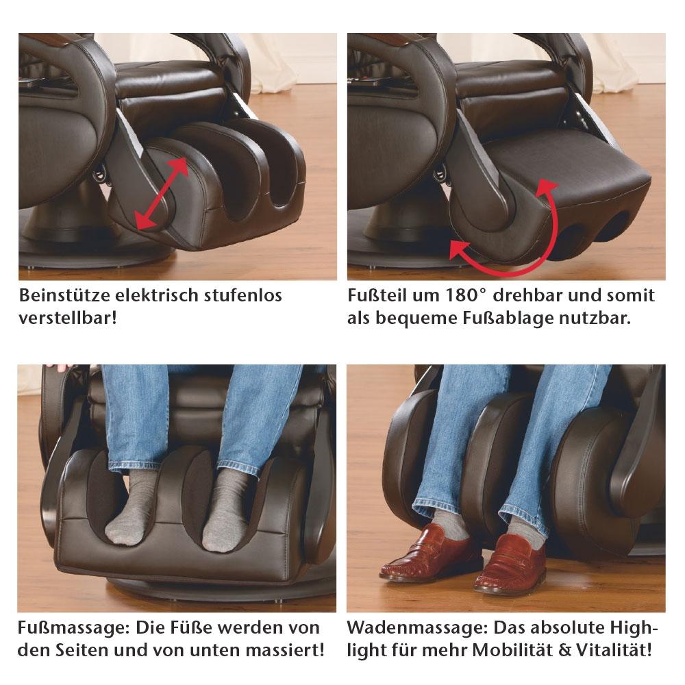 Der Massagesessel Komfort ist eine echte Wohltat für Ihre Beine und Füße.