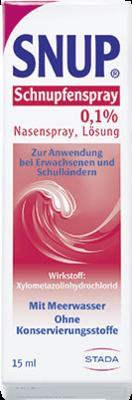 Snup Schnupfenspray 0,1% Nasenspray 15 ml