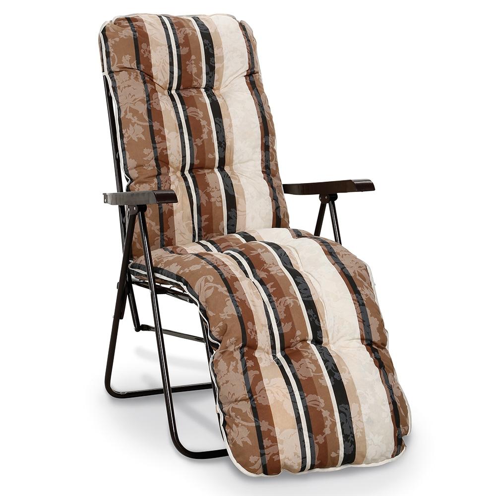 Genießen Sie auf der bequemen Relaxliege Sylt inkl. Komfort Auflage und Armlehnen die Entspannung im Garten!