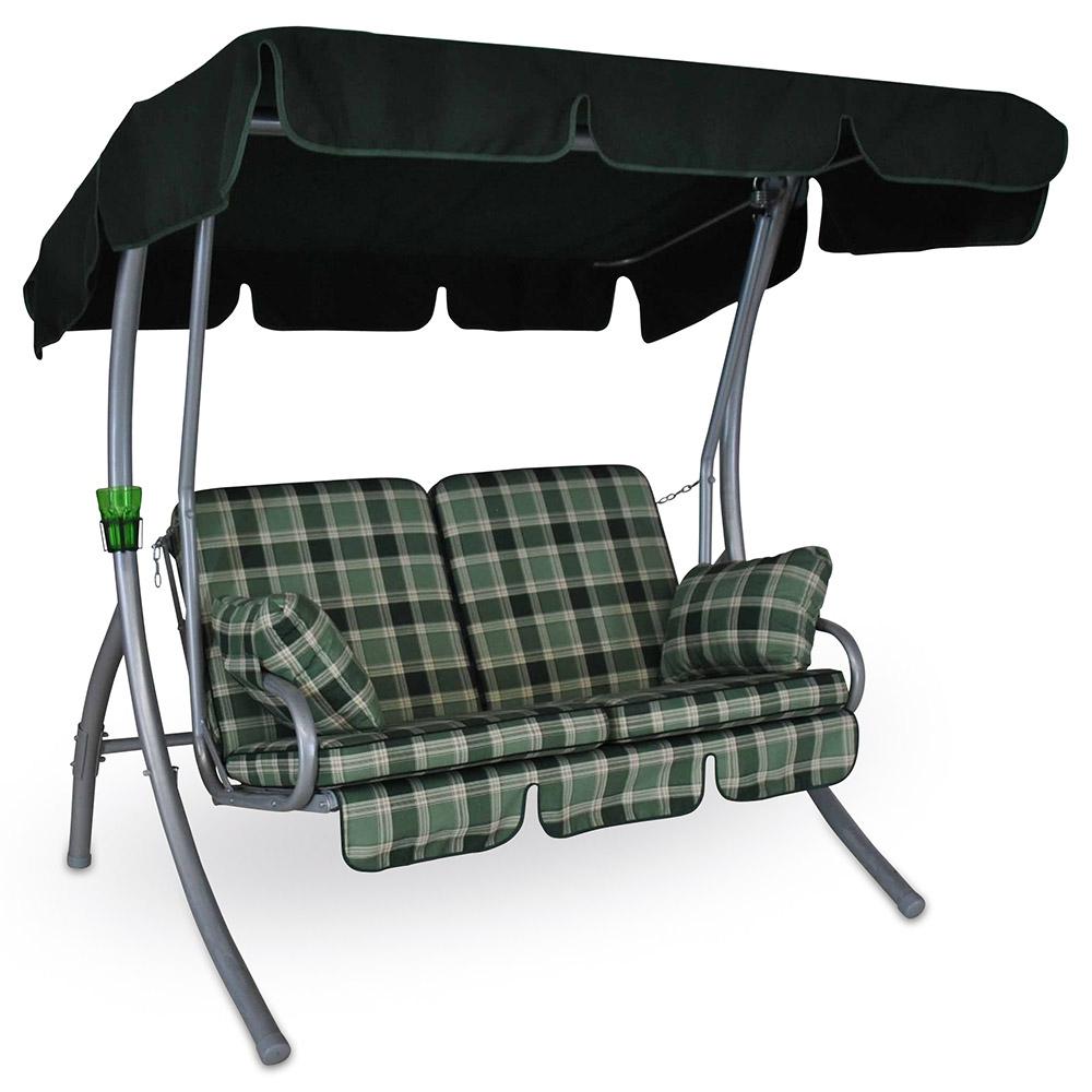 Genießen Sie auf der Hollywoodschaukel »Comfort Balkon Rio« mit ihrer ergonomischen Sitzfläche höchsten Komfort.