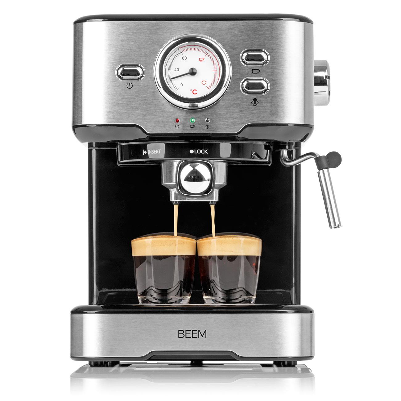 Espresso-Siebträgermaschine »Deluxe« mit Milchschäumer