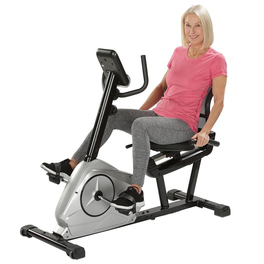 Auf dem bequemen Mesh-Sitz können Sie ideal ihr Herz-Kreislauf-System trainieren.