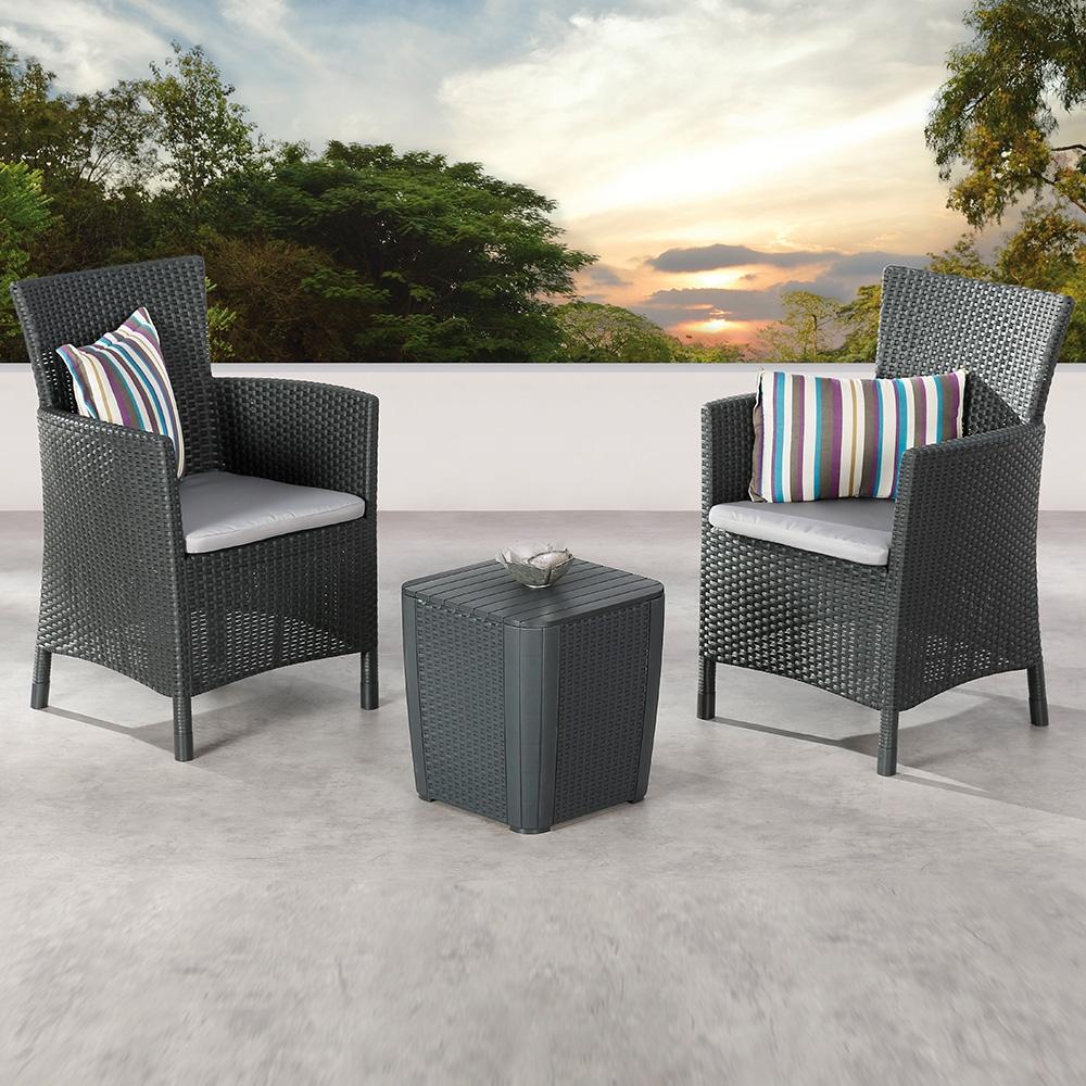 Mit dem attraktiven Balkon-Set »Napoli« verbringen Sie die Sonnentage auf Ihrem Balkon bequem und komfortabel.