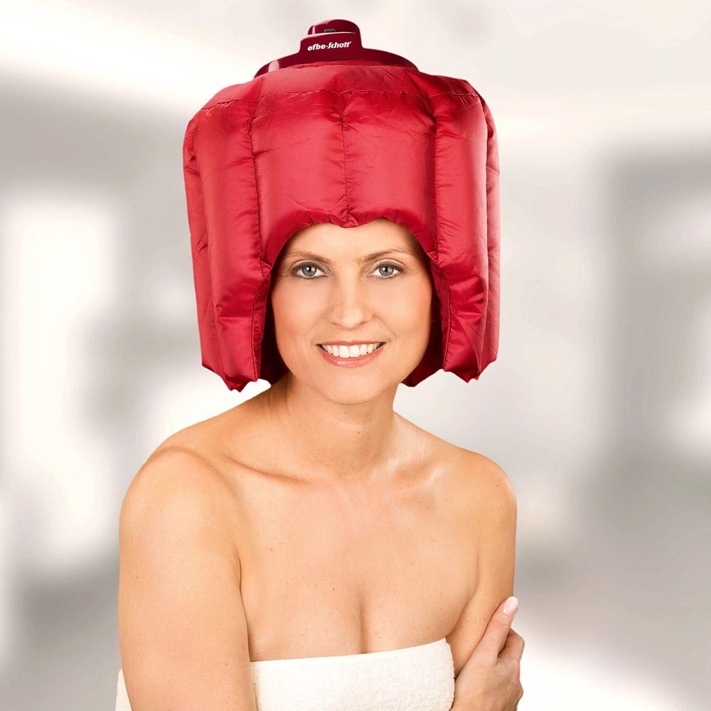 Mit ihrer passgenauen Form bietet die Haartrockenhaube sicheren Halt mit viel Bewegungsfreiheit.