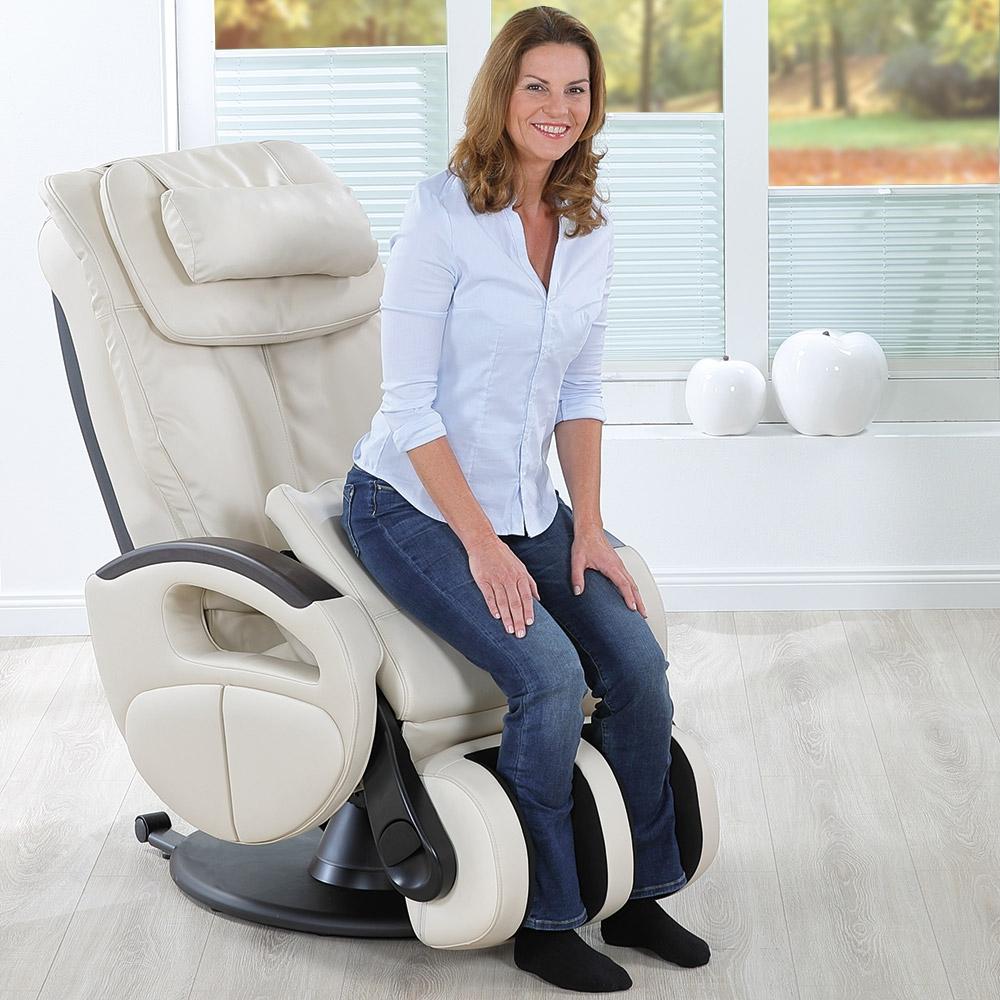 Massagesessel »Komfort Deluxe« mit Aufstehhilfe, creme