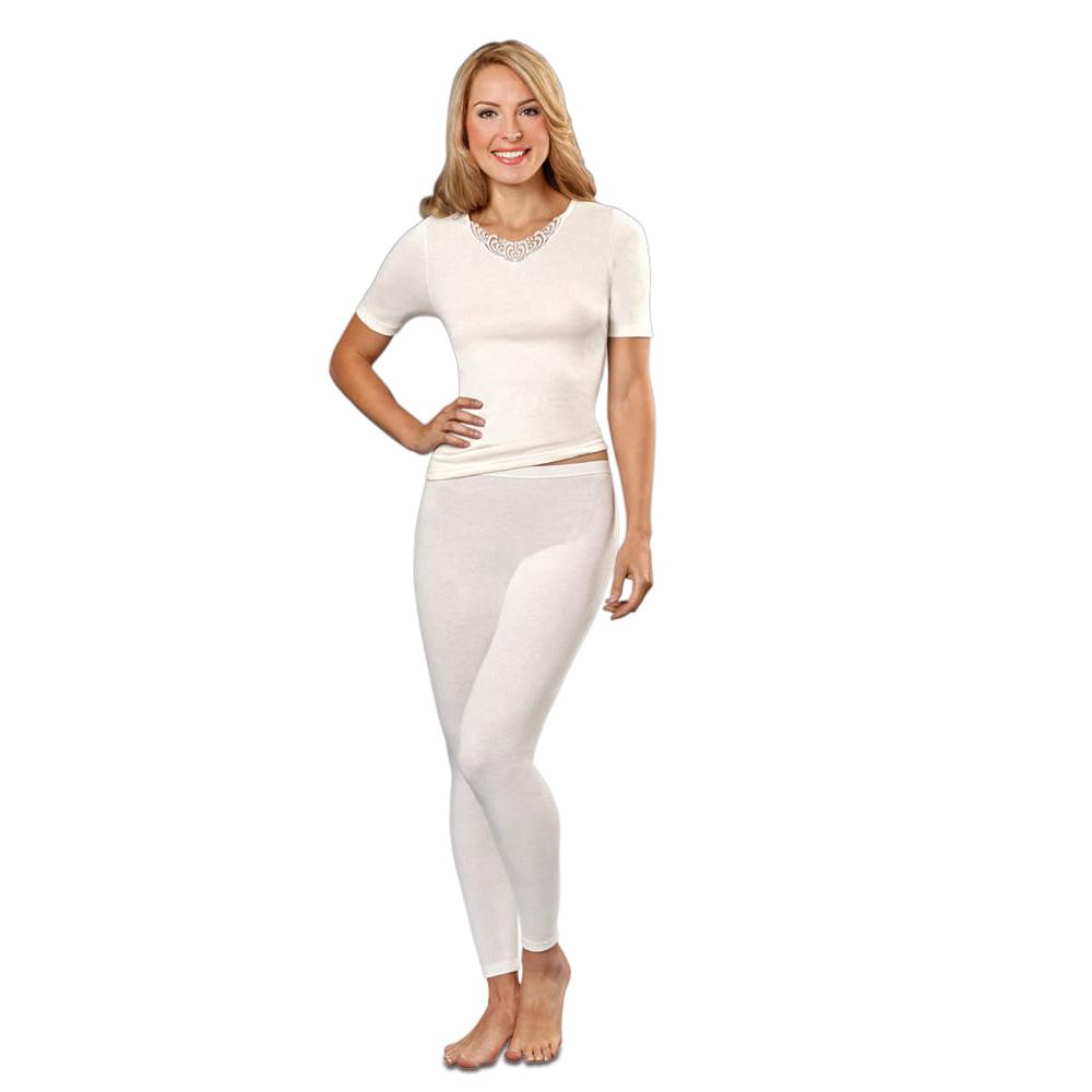 Die lange Damenunterhose mit wärmendem Angora passt sich Ihrer Figur optimal an.