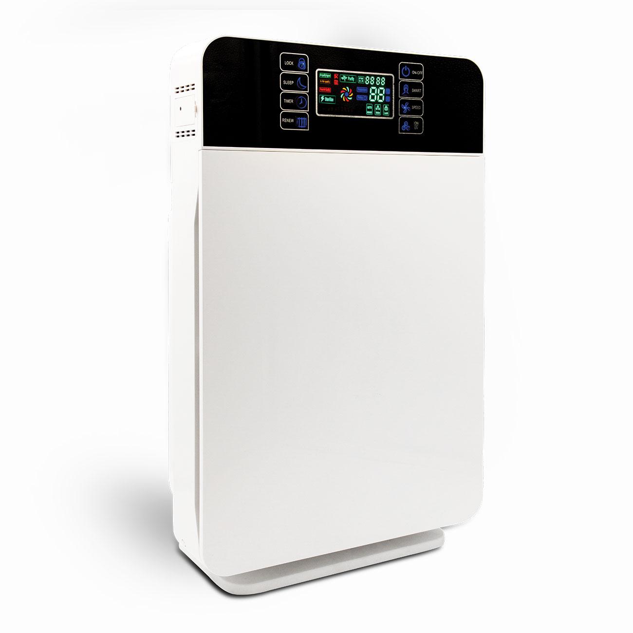 Der 6-in-1 Luftreiniger sorgt in kürzester Zeit für saubere Luft in Ihrem Zuhause.