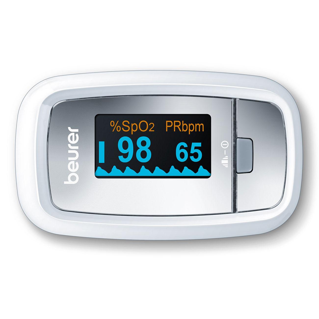 Mit dem Beurer Pulsoximeter »PO30« messen Sie Ihre Pulsfrequenz und die arterielle Sauerstoffsättigung.