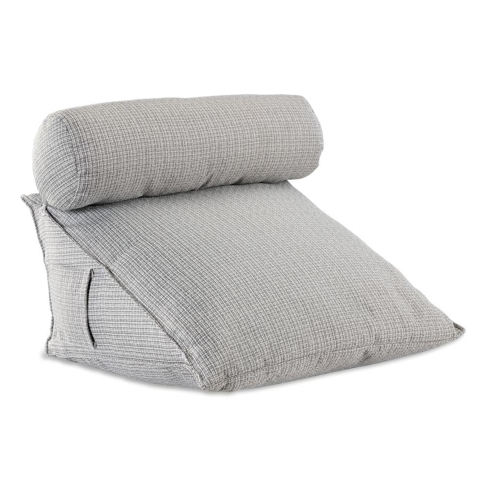 Mit dem Rückenkissen mit Nackenrolle sorgen Sie in jeder Position für gemütliche Entspannung.