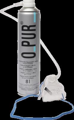 O PUR Sauerstoff Dose inkl.Maske u.Schlauch Spray 8 L