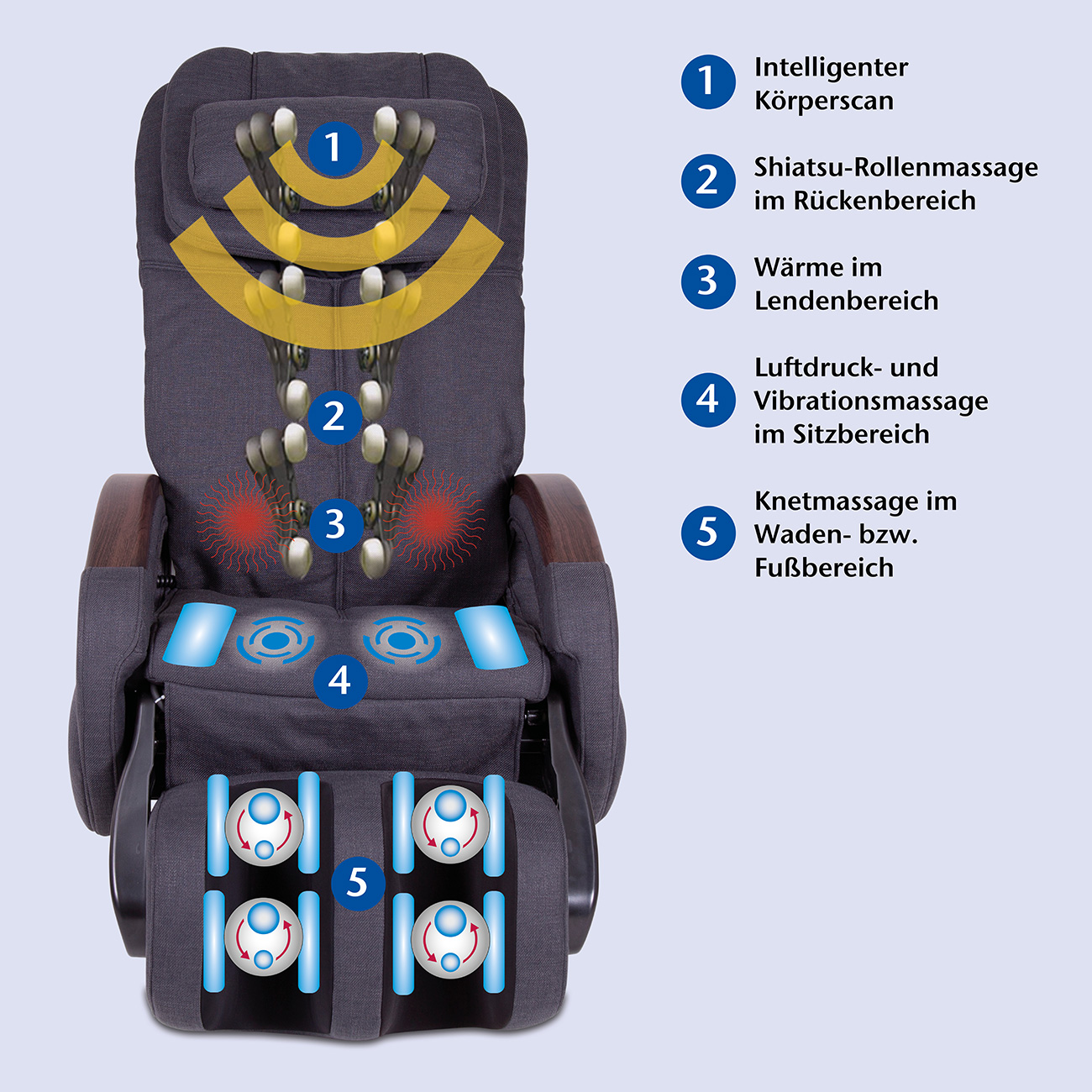 Massagesessel »Komfort Deluxe«, Stoff schwarz